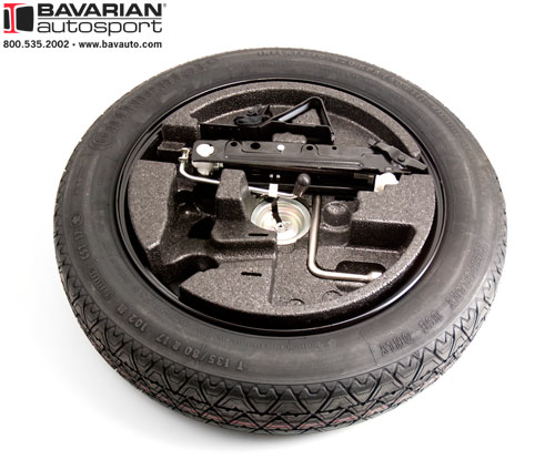 FS BMW E OEM Spare Tire Set Up - Bmw 328i run flat tires